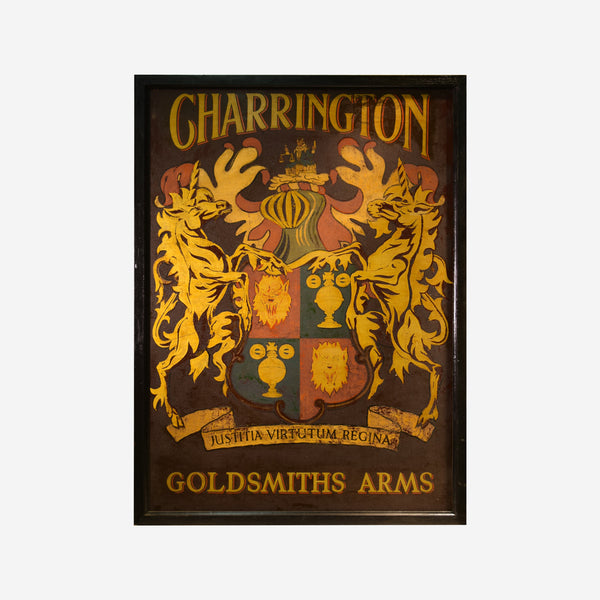 Charrington Goldsmith Arms English Pub Sign Q-06 - Tonkin of Nantucket - English and French Antique Furniture and Accessories