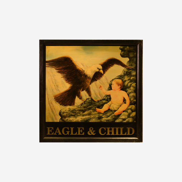 Eagle and Child English Pub Sign Q-16 - Tonkin of Nantucket - English and French Antique Furniture and Accessories