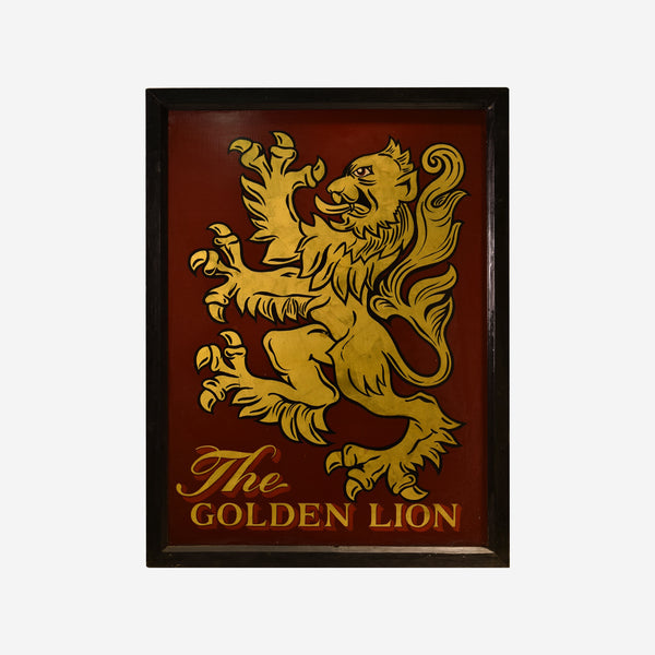 The Golden Lion English Pub Sign Q-26 - Tonkin of Nantucket - English and French Antique Furniture and Accessories