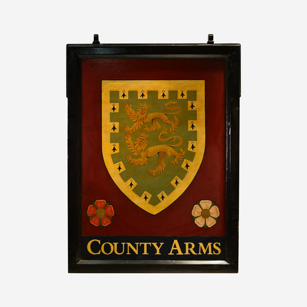 County Arms English Pub Sign Q-20 - Tonkin of Nantucket - English and French Antique Furniture and Accessories