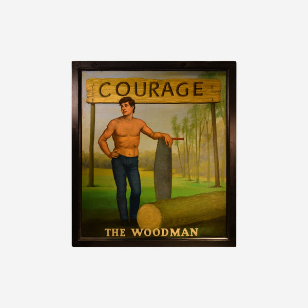 Courage The Woodman English Pub Sign K-502 - Tonkin of Nantucket - English and French Antique Furniture and Accessories