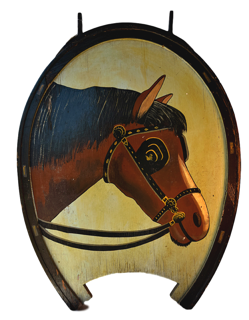Horse and Horseshoe English Pub Sign P-147 - Tonkin of Nantucket - English and French Antique Furniture and Accessories