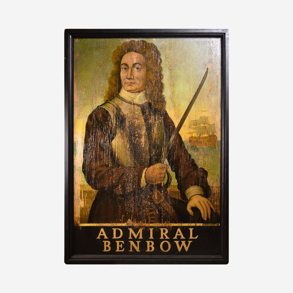 Admiral Benbow English Pub Sign L-100 - Tonkin of Nantucket - English and French Antique Furniture and Accessories