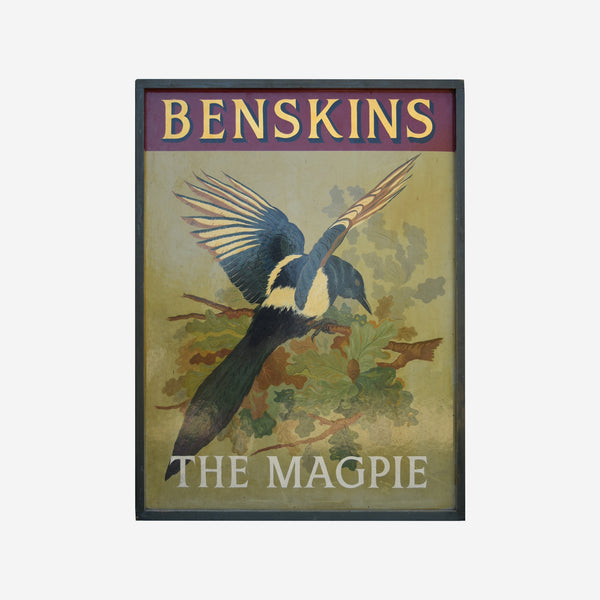 Benskins The Magpie English Pub Sign - Tonkin of Nantucket - English and French Antique Furniture and Accessories