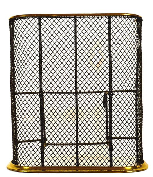 Brass and steel mesh  fire screen - Tonkin of Nantucket - English and French Antique Furniture and Accessories
