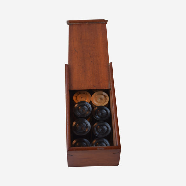 Boxed Set of Backgammon Stones - Tonkin of Nantucket - English and French Antique Furniture and Accessories