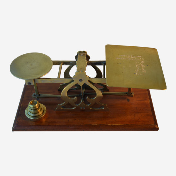 English Postal Scale WITH 5 WEIGHT'S - Tonkin of Nantucket - English and French Antique Furniture and Accessories