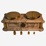 An Extremely Fine Marble Cased Scale - Tonkin of Nantucket - English and French Antique Furniture and Accessories