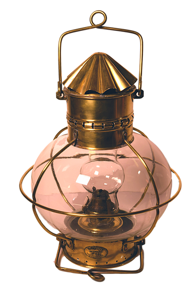 Brass Ship's Anchor Lamp - Tonkin of Nantucket - English and French Antique Furniture and Accessories