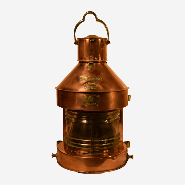 Copper Masthead Ships LIght - Tonkin of Nantucket - English and French Antique Furniture and Accessories