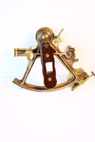 Brass Sextant Maker Hughes C.1910 England - Tonkin of Nantucket - English and French Antique Furniture and Accessories