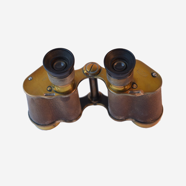 Leather wrapped Brass Binoculars - Tonkin of Nantucket - English and French Antique Furniture and Accessories
