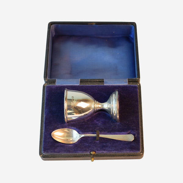 Silver Christenine Set - Tonkin of Nantucket - English and French Antique Furniture and Accessories