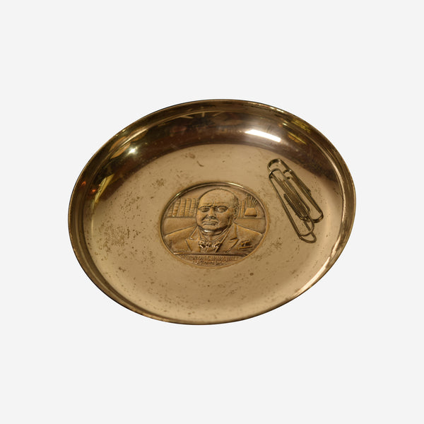 Commemorative Dish Winston Churchill - Tonkin of Nantucket - English and French Antique Furniture and Accessories