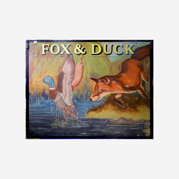 Fox and Duck English Pub Sign M-30 - Tonkin of Nantucket - English and French Antique Furniture and Accessories