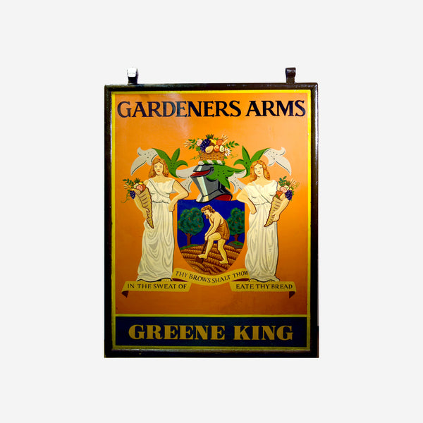 Gardeners Arms English Pub Sign M-164 - Tonkin of Nantucket - English and French Antique Furniture and Accessories