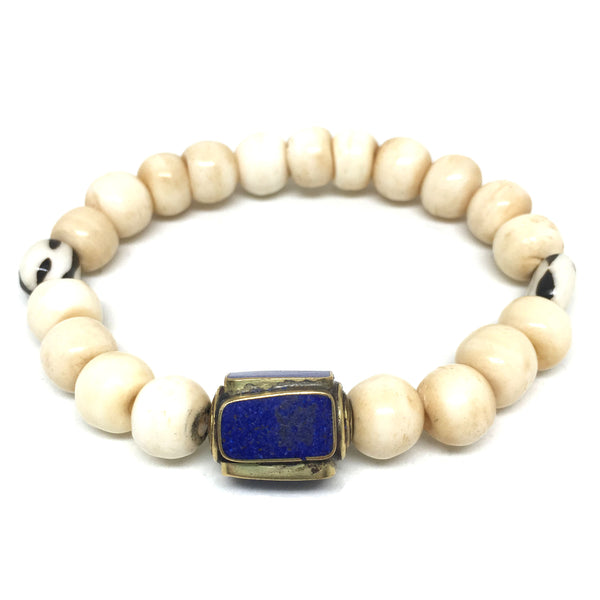 Summer Bracelet  | Antique Lapis Charm - burnmark