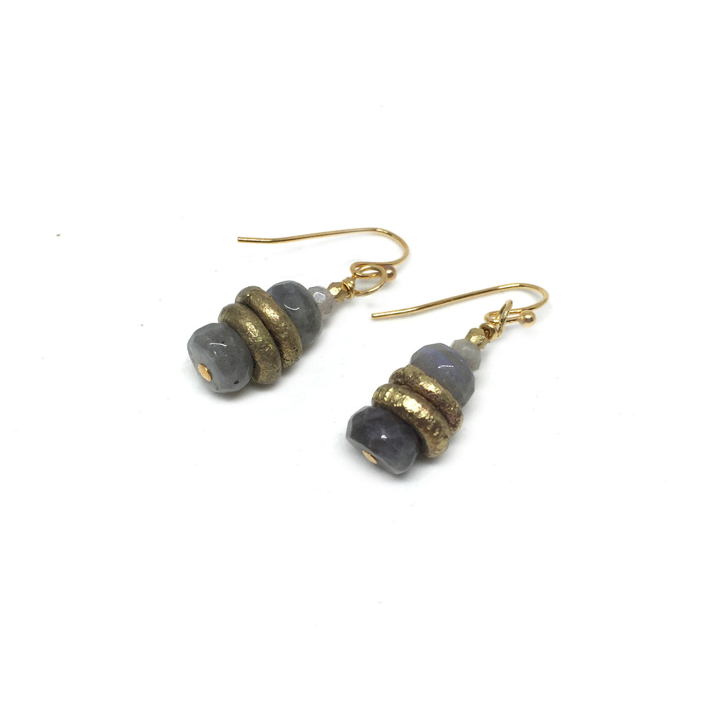 Labradorite Stack Earrings - burnmark