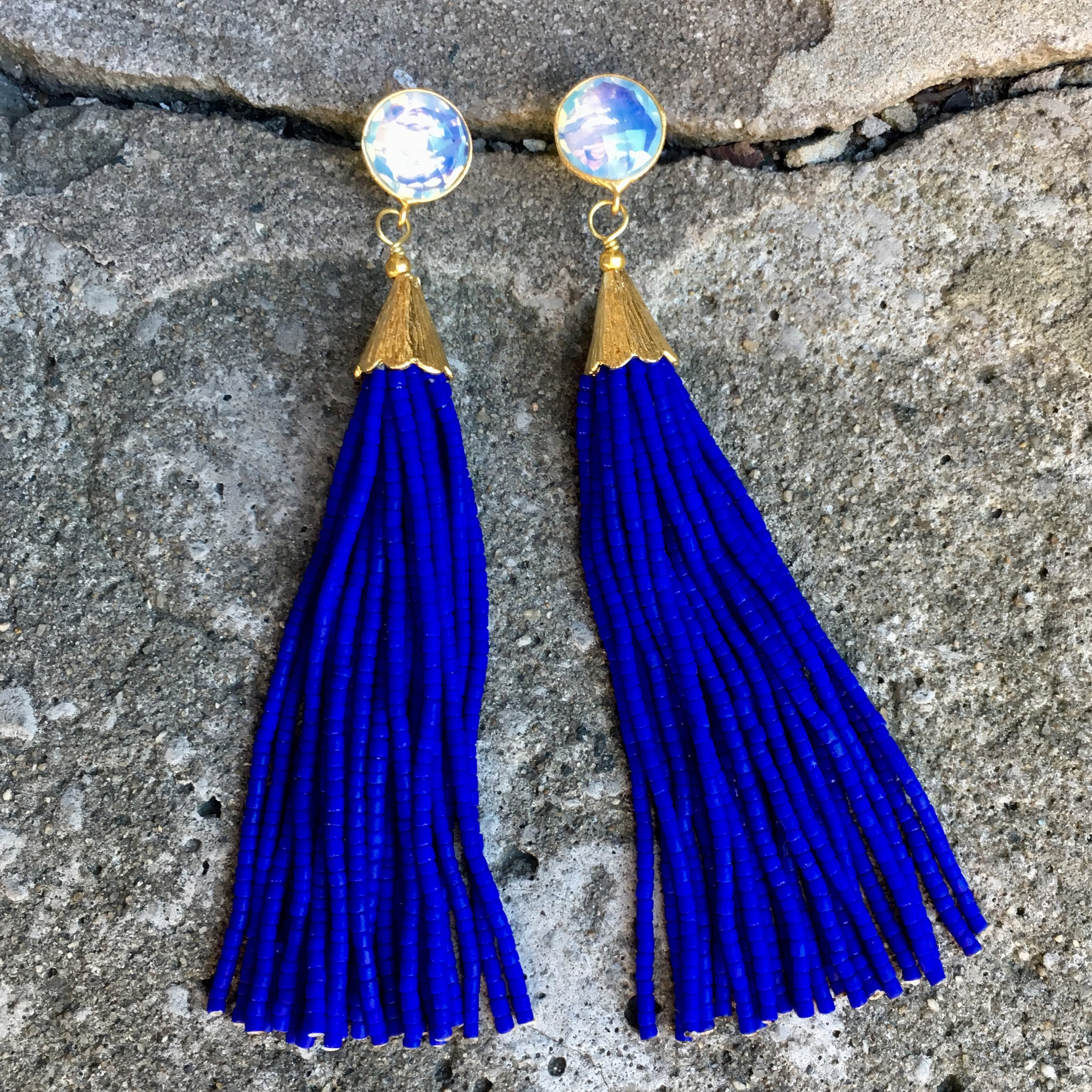 earrings home sea cobalt lobster glass