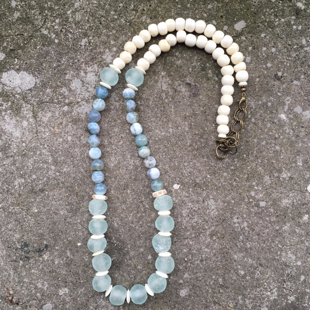 Leroy Necklace | Aqua - burnmark