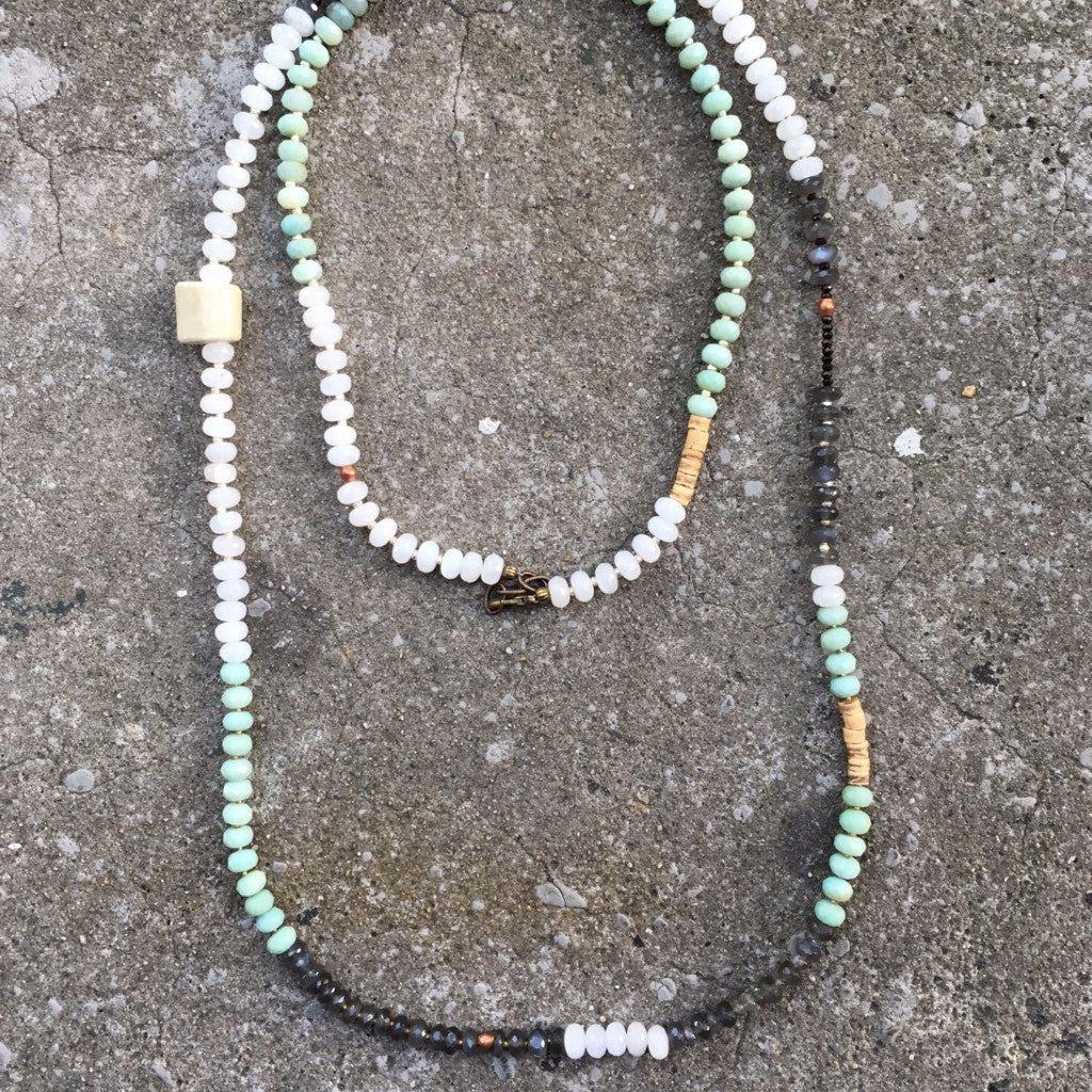 Sullivan Layering Necklace | Mint Ombre - burnmark