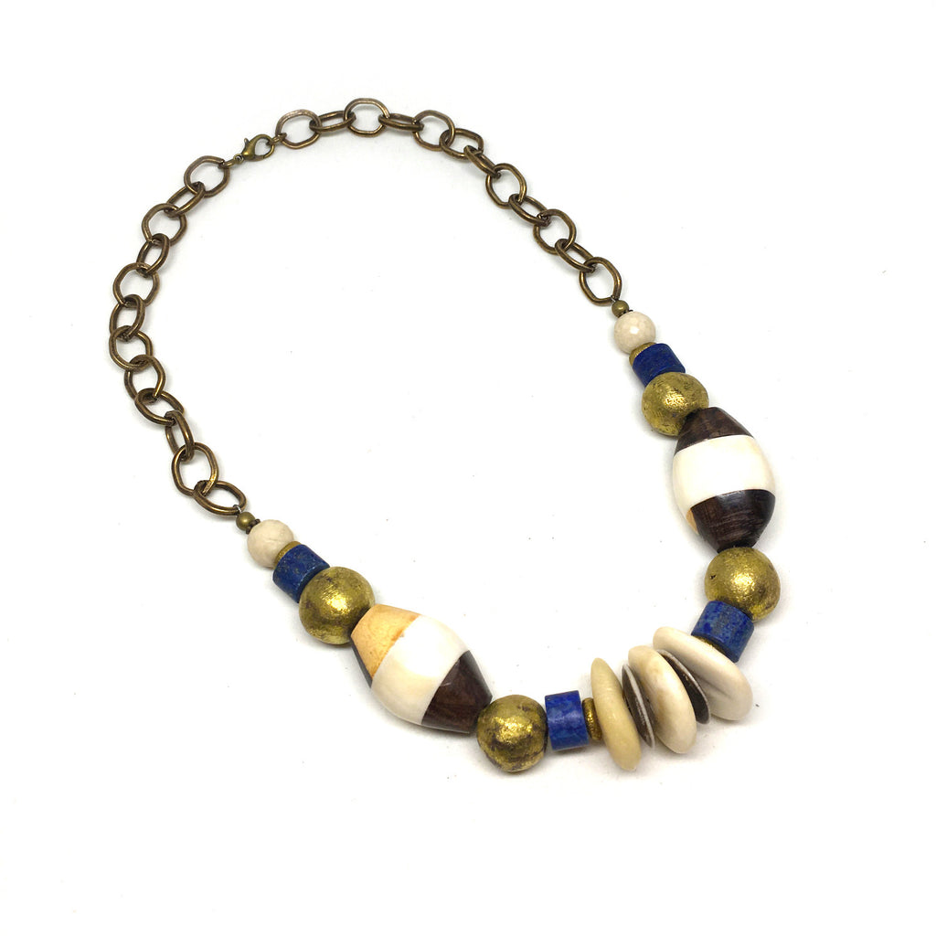 Leroy Necklace | Lapis - burnmark