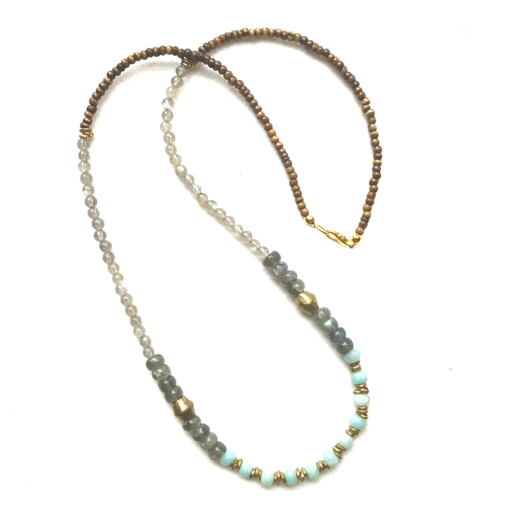 Sullivan Multi-Stone Necklace | Mint - burnmark