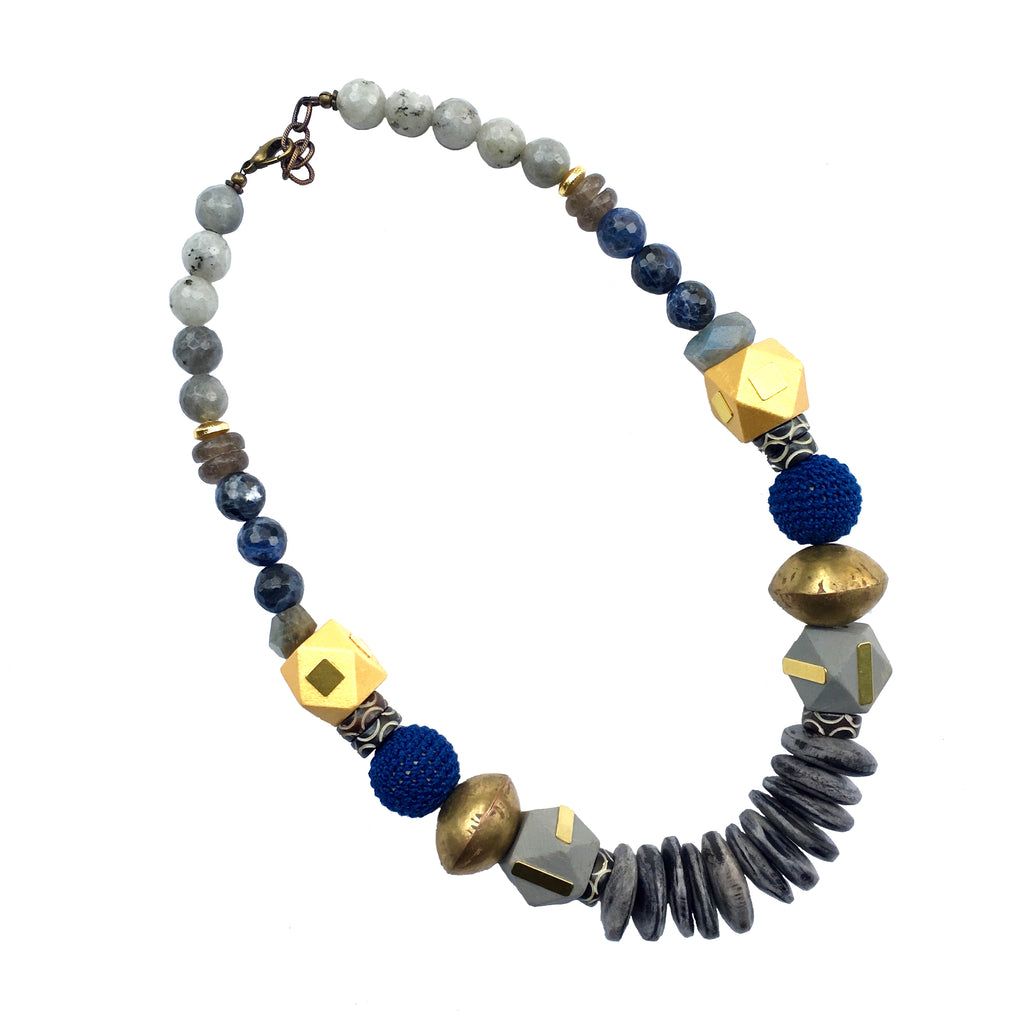 Leroy Necklace | Lapis + Gold - burnmark