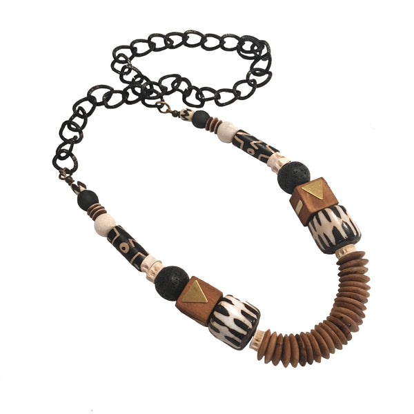 Leroy Necklace | Batik + Lava - burnmark