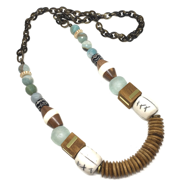 Leroy Necklace | Mint + Amazonite - burnmark