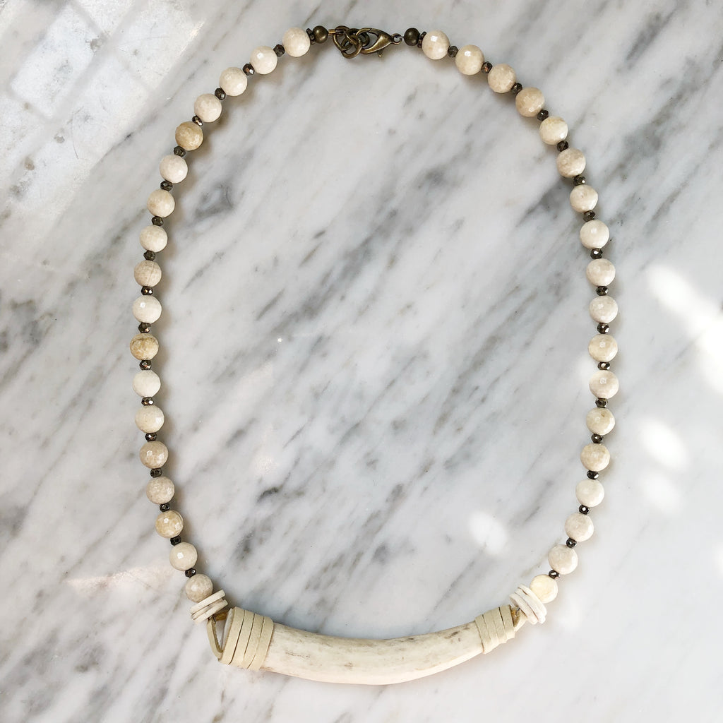 Bowery Necklace | Riverstone + Pyrite - burnmark