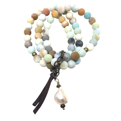 Amazonite Stack | Baroque Pearl - burnmark