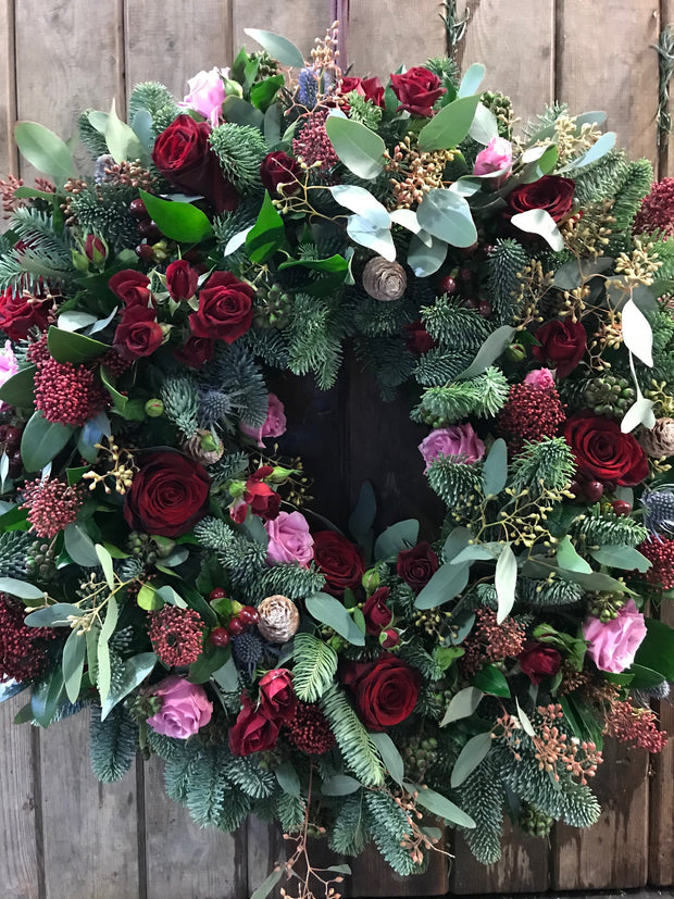 Wreath, fresh flower - ROSE