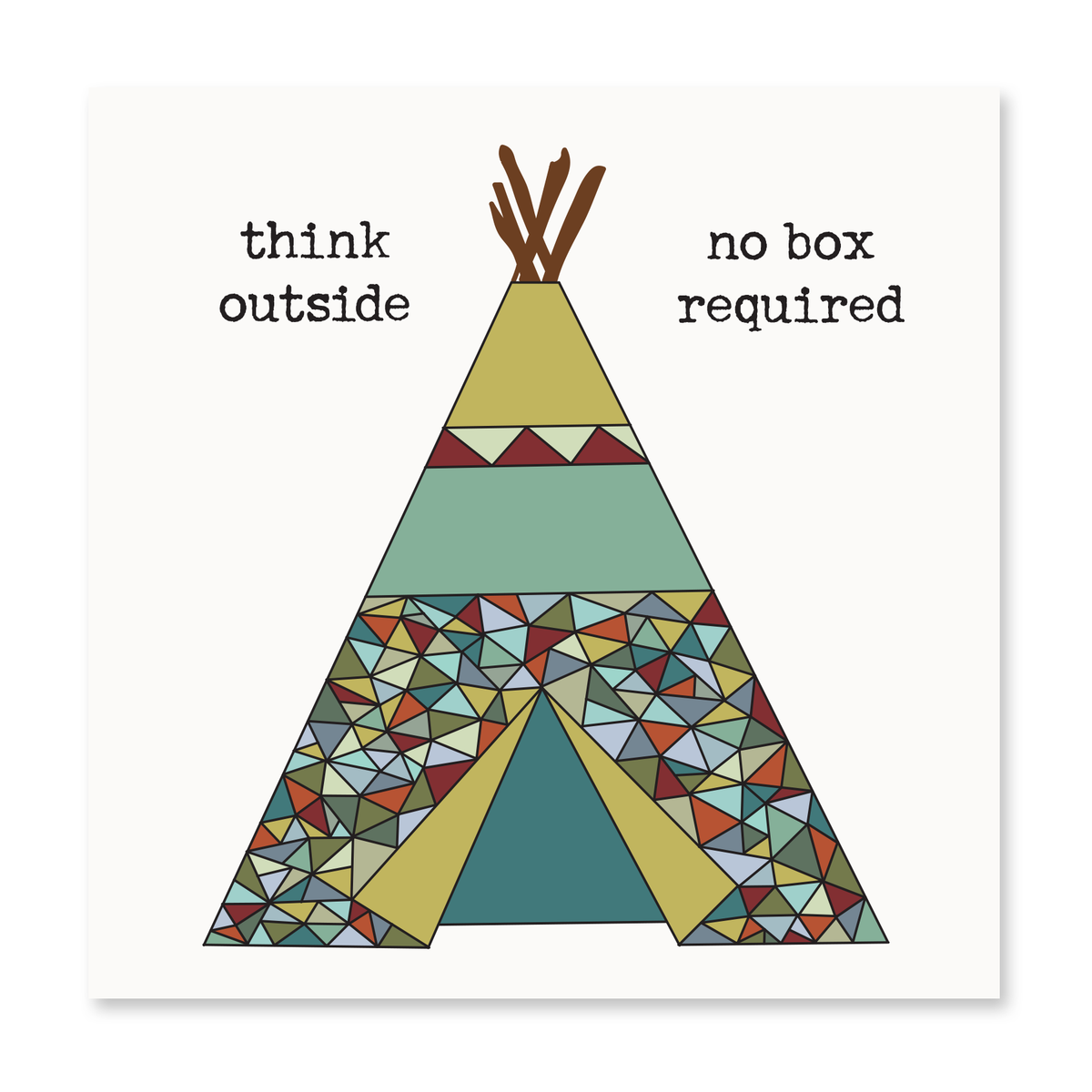 The Happy Sea - Think Outside, No Box Required Greeting Card