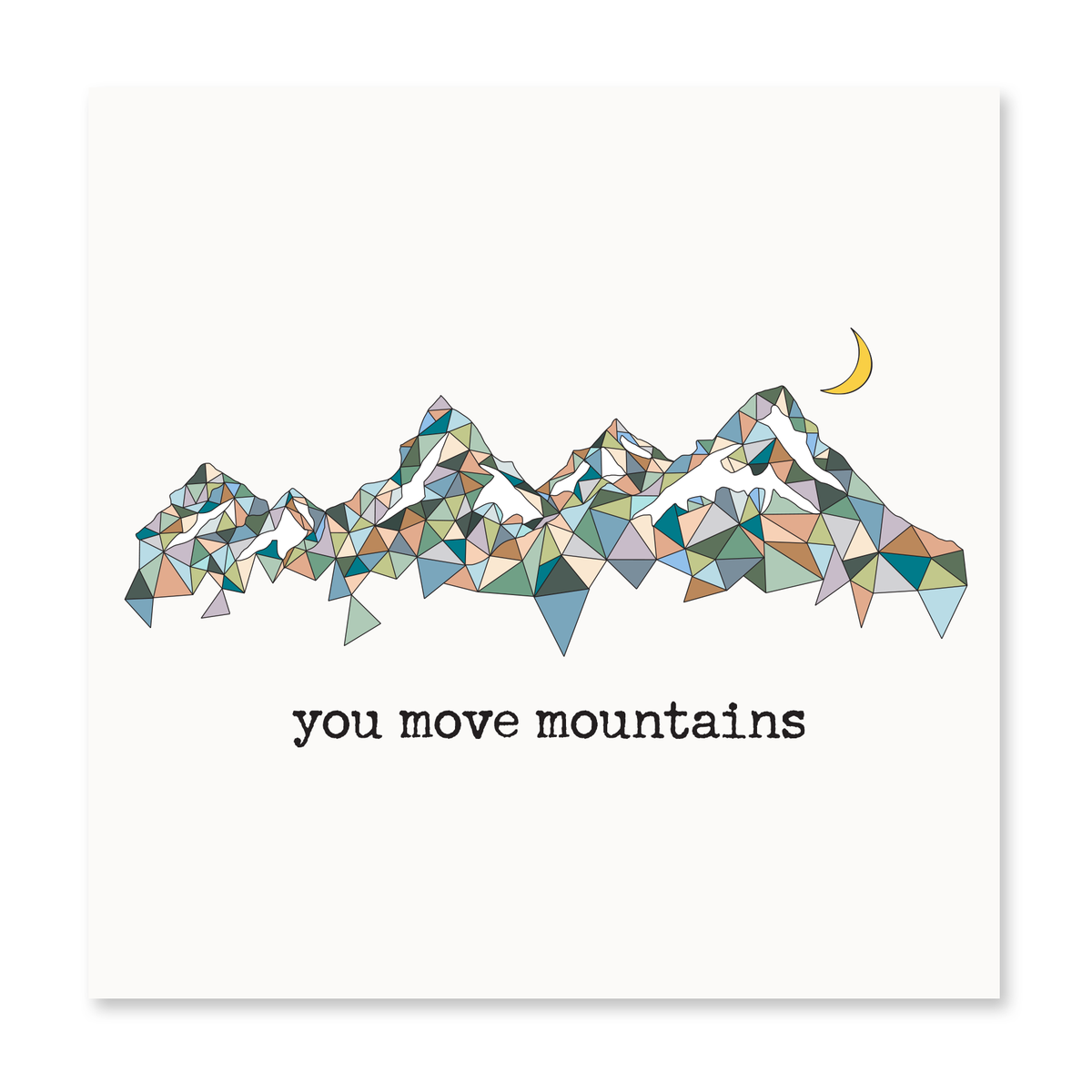 The Happy Sea - You Move Mountains Greeting Card