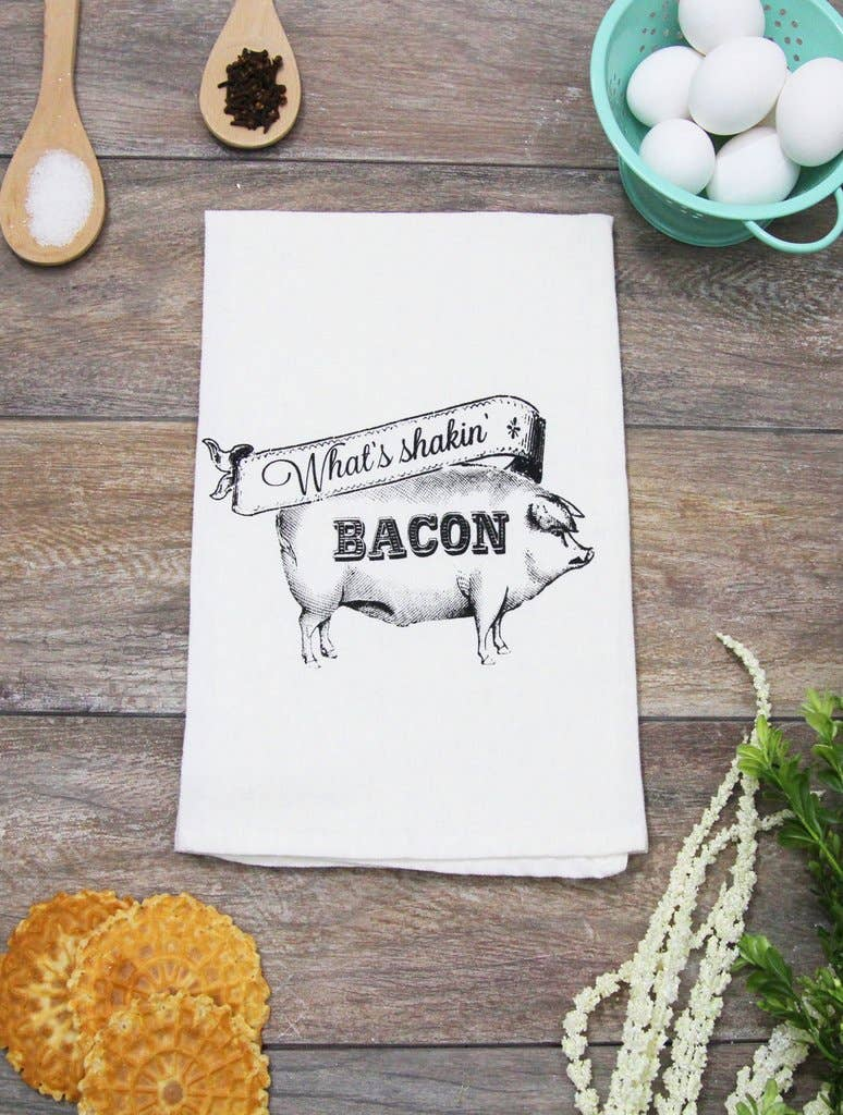 The Coin Laundry - What's Shakin' Bacon Kitchen Towel