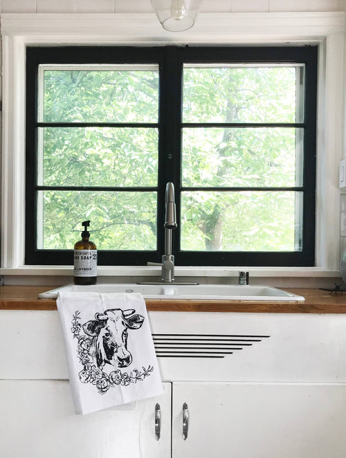 The Coin Laundry - Farmhouse Cow Kitchen Towel