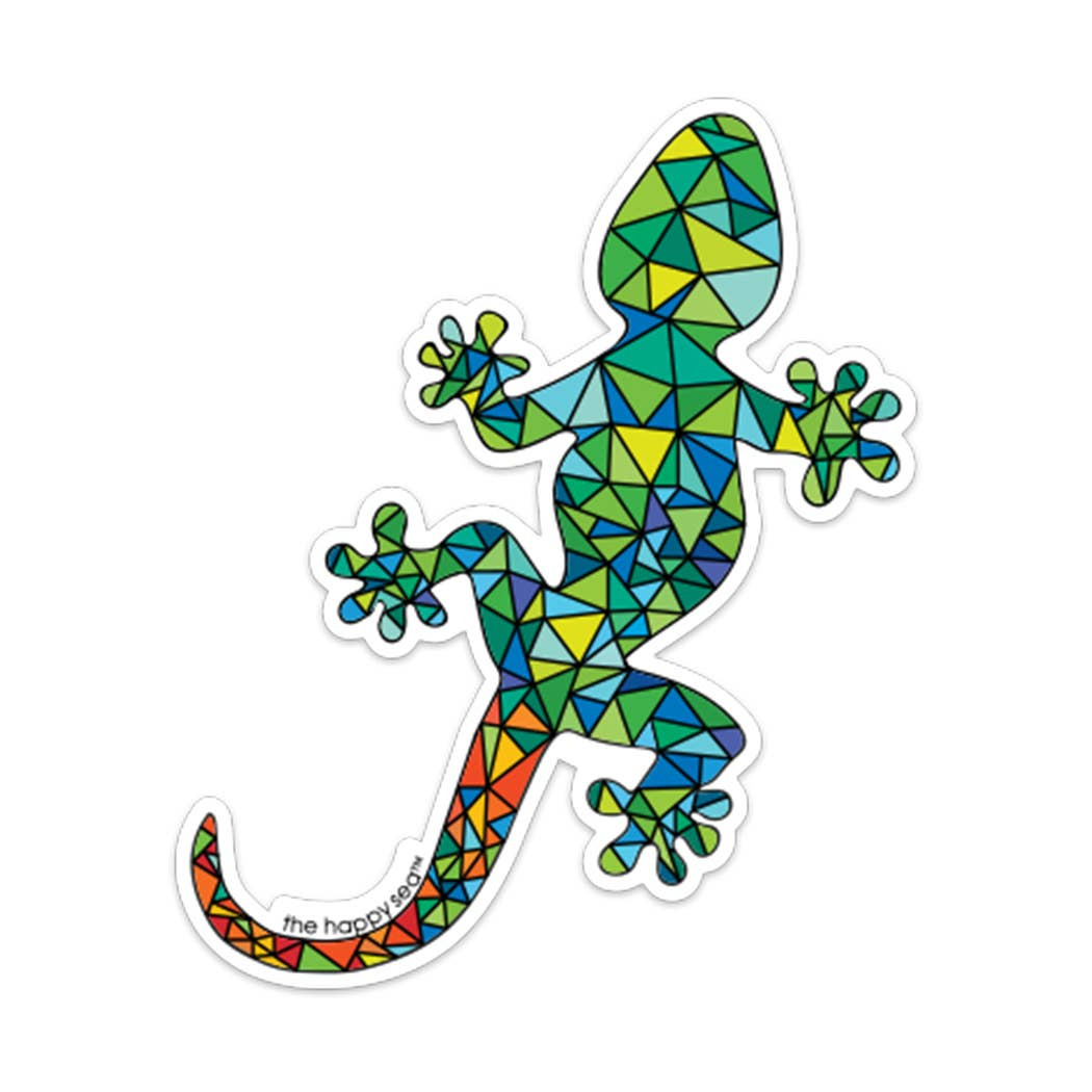 "The Happy Sea - 4"" Lizard Sticker"