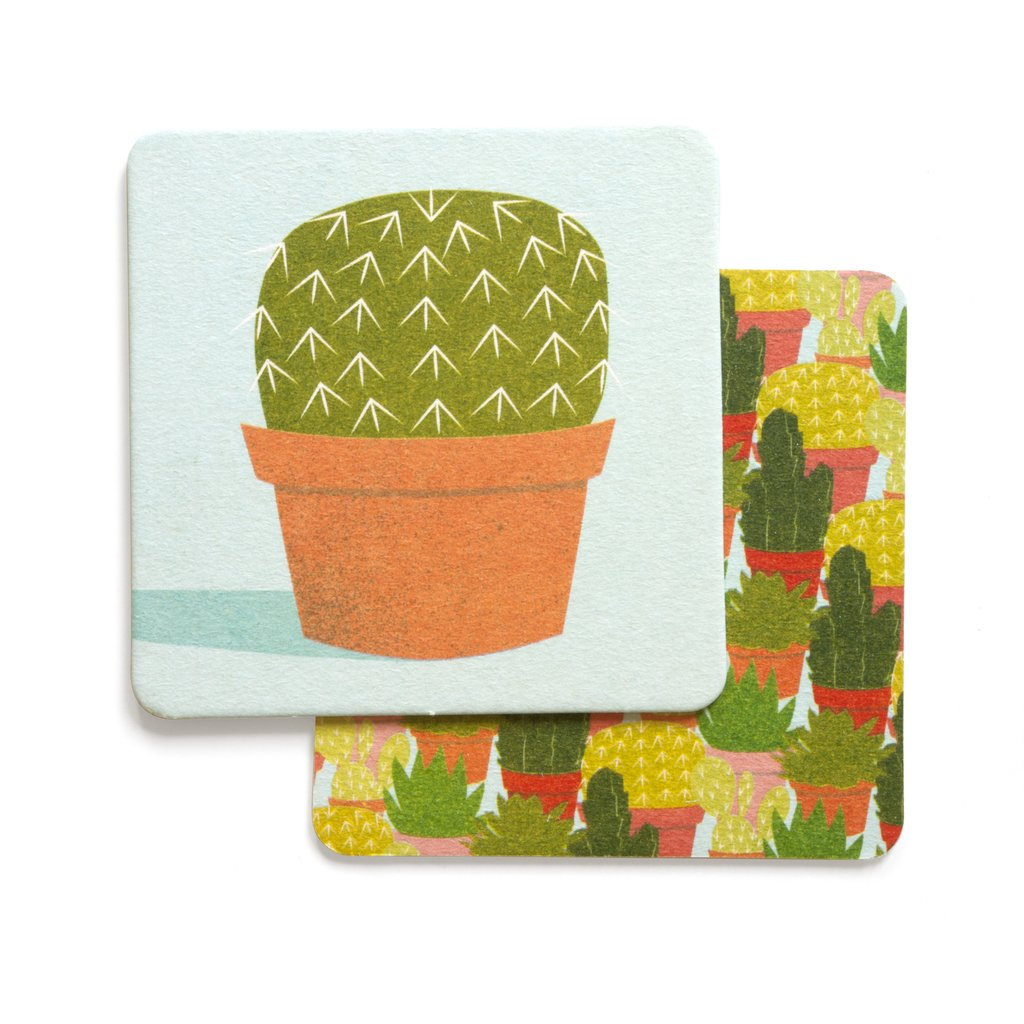 Smarty Pants Paper - Cactus Coasters set of 4- Closeout Item