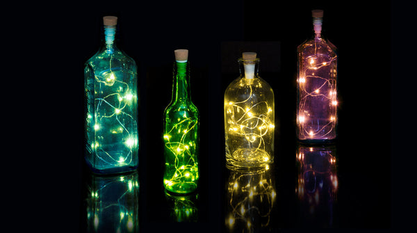 Suck UK - USB Rechargeable Multicolored Bottle String Light