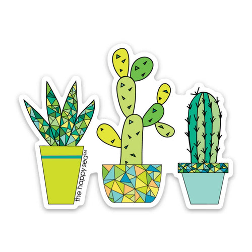 "The Happy Sea - 3"" Succulent Sticker"