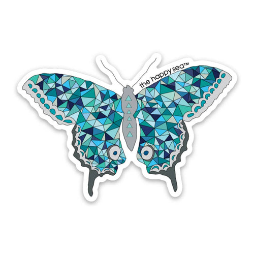 "The Happy Sea - 3"" Butterfly Sticker"