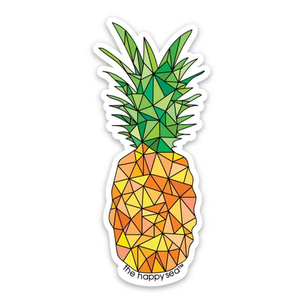 "The Happy Sea - 4"" Pineapple Sticker"