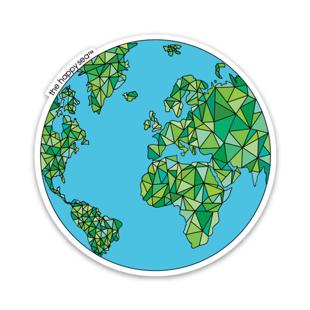 "The Happy Sea - 3"" Globe Sticker"