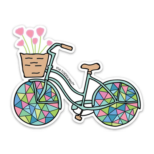 "The Happy Sea - 4"" Bicycle Sticker"