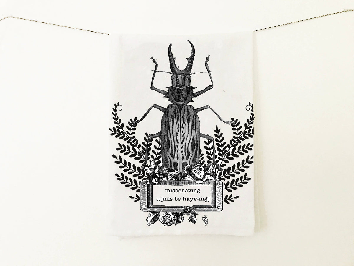 The Coin Laundry - Misbehaving Beetle Kitchen Towel