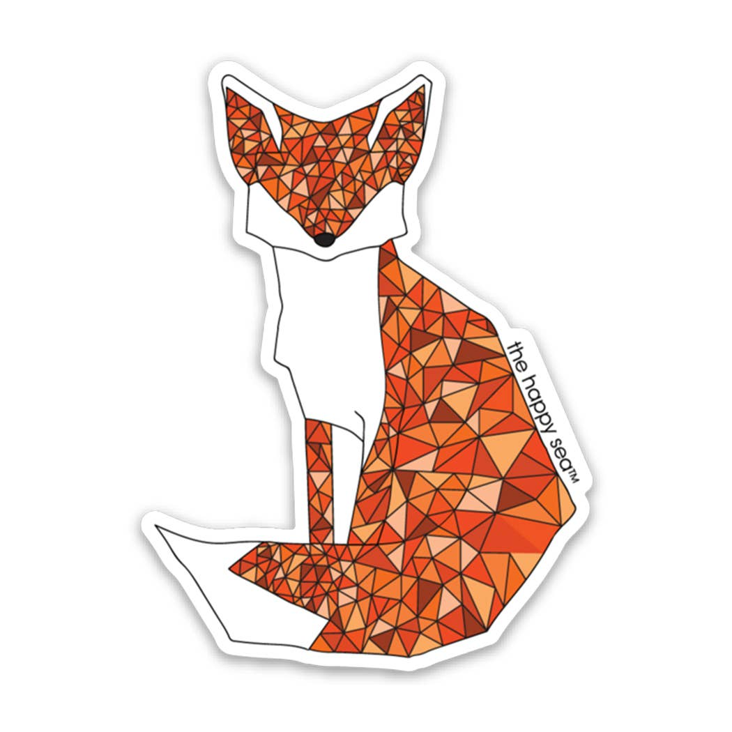 "The Happy Sea - 3"" Fox Sticker"