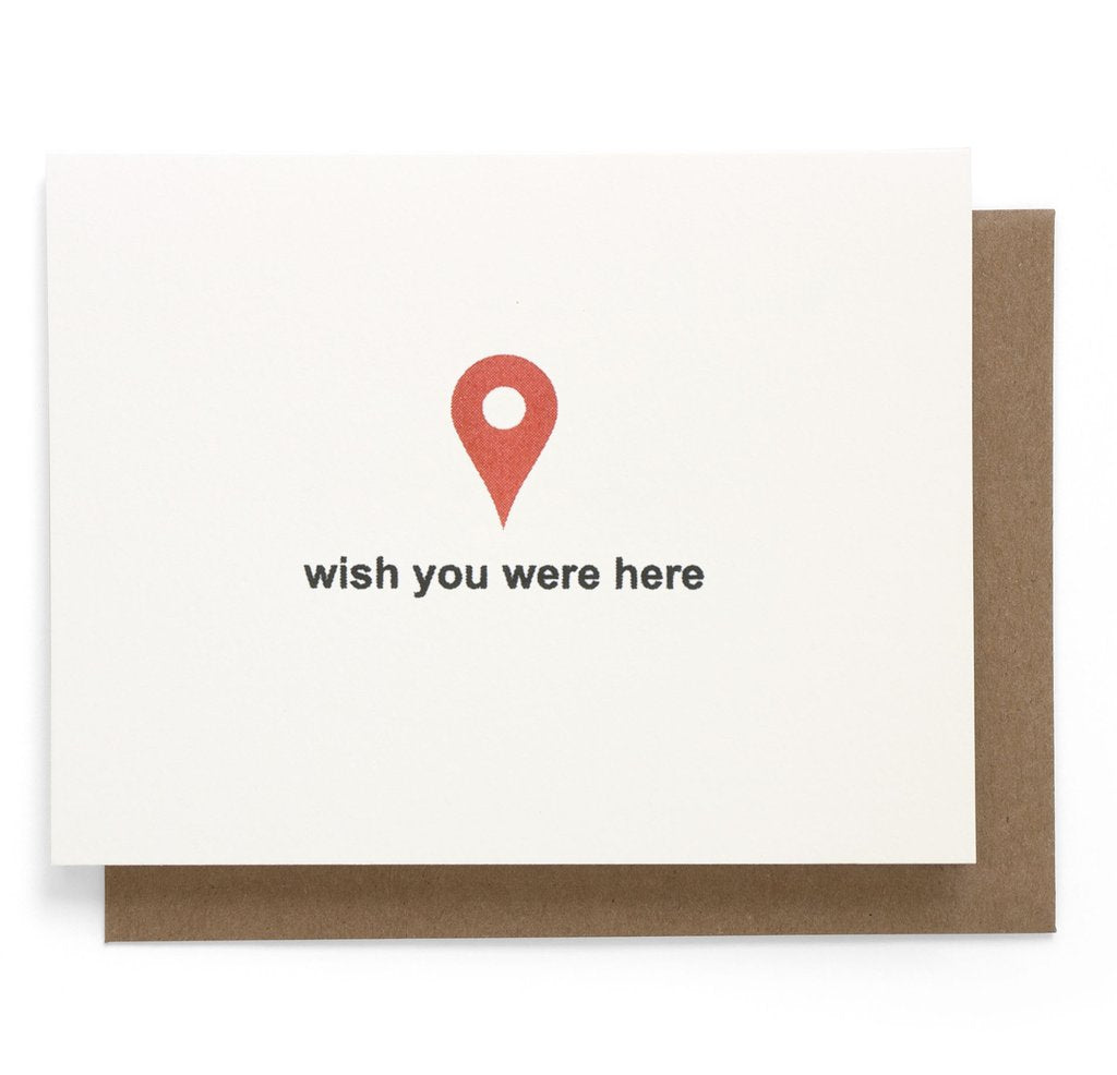 Smarty Pants Paper - Wish You Were Here Greeting Card