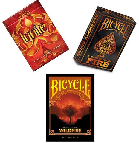 """Fire Collection"" 3-Deck Playing Cards by Ellusionist/Bicycle"