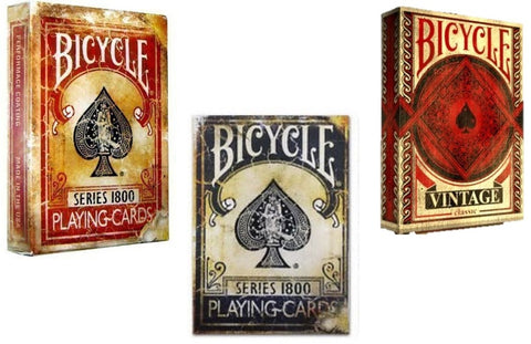"""All Vintage"" 3-Deck Playing Cards by Ellusionist/Bicycle"